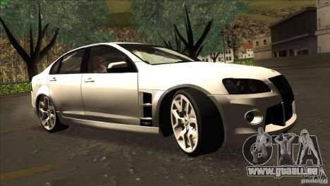 Holden HSV W427 pour GTA San Andreas vue arrière