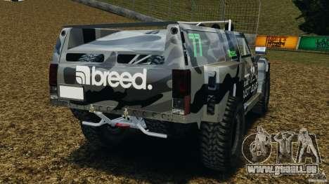 Hummer H3 raid t1 für GTA 4 hinten links Ansicht
