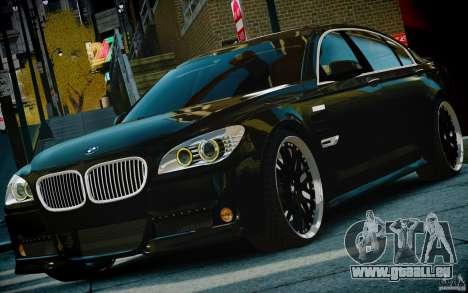 Bmw 750li Hamann pour GTA 4 Vue arrière