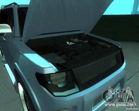Mitsubishi Pajero STR I pour GTA San Andreas sur la vue arrière gauche