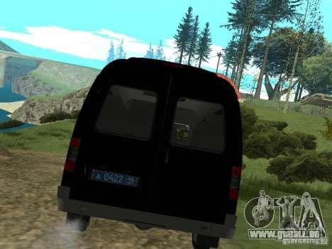 GAZ 2217 FSB pour GTA San Andreas vue de droite