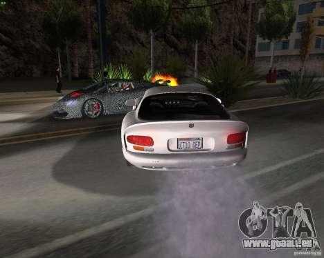 Dodge Viper pour GTA San Andreas vue arrière
