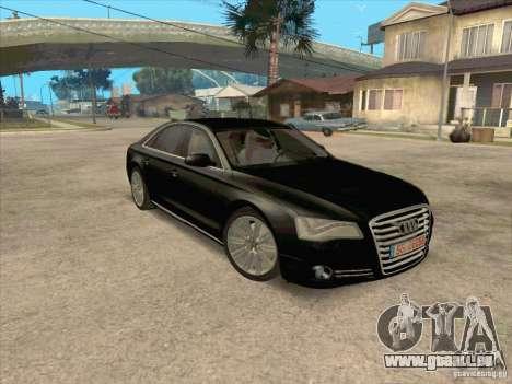Audi A8 2010 für GTA San Andreas rechten Ansicht