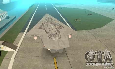 Executor Class Stardestroyer pour GTA San Andreas laissé vue