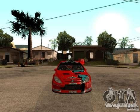 Peugeot 307 WRC pour GTA San Andreas vue de droite