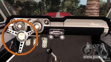 Ford Shelby GT500 pour une vue GTA Vice City de la droite