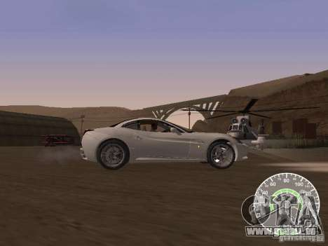 Ferrari California v1 pour GTA San Andreas laissé vue