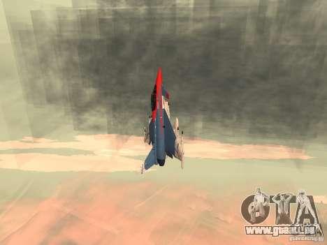 Eurofighter Typhoon für GTA San Andreas zurück linke Ansicht