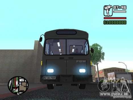 FBW Hess 91U pour GTA San Andreas vue intérieure