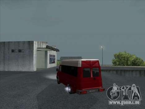 Iveco TurboDaily 35-10 für GTA San Andreas zurück linke Ansicht