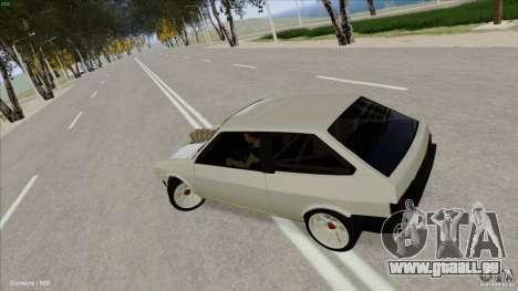 ВАЗ 2108 Sport pour GTA San Andreas vue intérieure