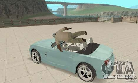 BMW Z4 Roadster 2006 pour GTA San Andreas vue intérieure