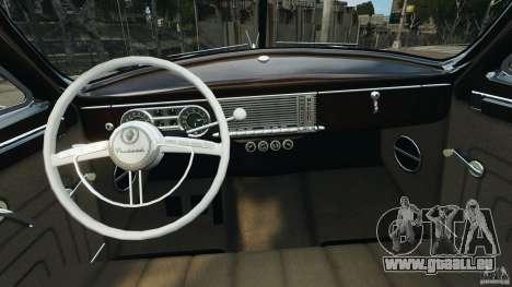 Packard Eight 1948 für GTA 4 Innenansicht
