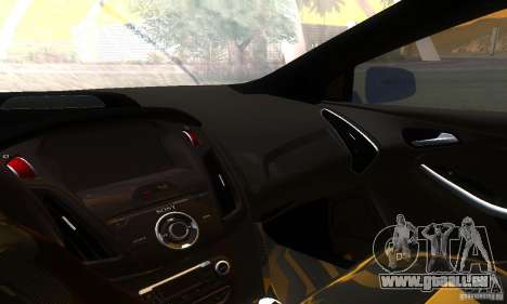 Ford Focus 3 pour GTA San Andreas vue intérieure