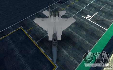 F-15 pour GTA San Andreas sur la vue arrière gauche