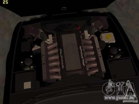 BMW E34 Alpina B10 Bi-Turbo pour GTA San Andreas vue de dessus