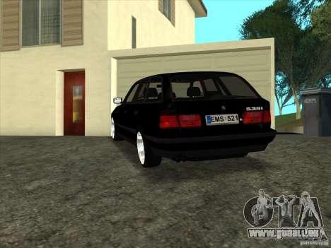 BMW E34 535i Touring pour GTA San Andreas laissé vue
