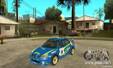 Subaru Impreza STi WRC wht2 für GTA San Andreas zurück linke Ansicht