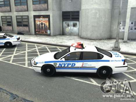 Chevrolet Impala NYCPD POLICE 2003 pour GTA 4 est une gauche