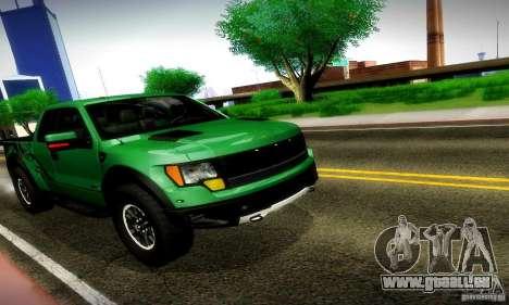 Ford F-150 SVT Raptor V1.0 pour GTA San Andreas laissé vue