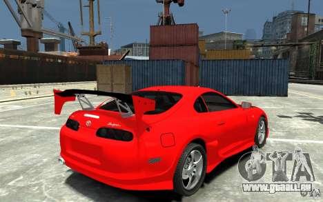 Toyota Supra Black Tuning für GTA 4 rechte Ansicht