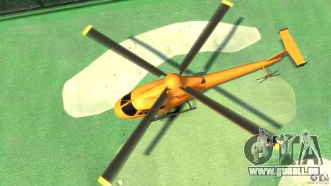 Helicopter From NFS Undercover für GTA 4 Rückansicht