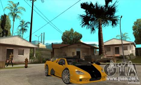 SSC Ultimate Aero FM3 version für GTA San Andreas Rückansicht