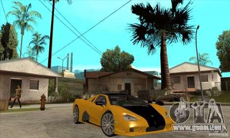 SSC Ultimate Aero FM3 version pour GTA San Andreas vue arrière