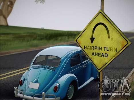 Volkswagen Beetle 1967 V.1 für GTA San Andreas Rückansicht