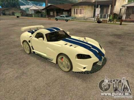 Dodge Viper from MW pour GTA San Andreas laissé vue
