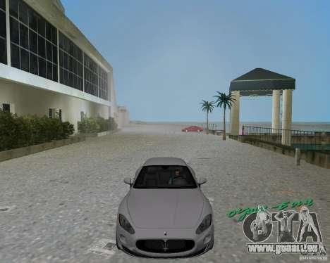 Maserati  GranTurismo pour GTA Vice City sur la vue arrière gauche