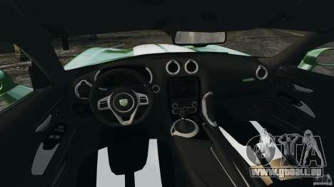 SRT Viper GTS 2013 pour GTA 4 Vue arrière