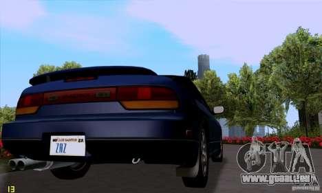 Nissan SX 240 Full Stock pour GTA San Andreas sur la vue arrière gauche