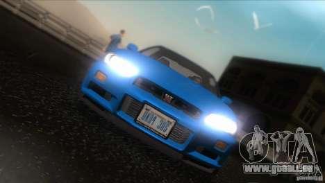 Nissan Skyline GTR-34 für GTA San Andreas Seitenansicht