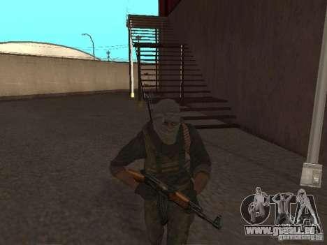 Dušman 2 de COD4MW pour GTA San Andreas quatrième écran