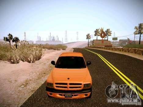 Dodge Ram 1500 Dacota pour GTA San Andreas vue de côté