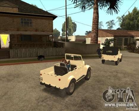 GAZ-69A für GTA San Andreas Rückansicht