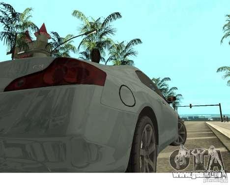 Infiniti G35 Coupe pour GTA San Andreas sur la vue arrière gauche