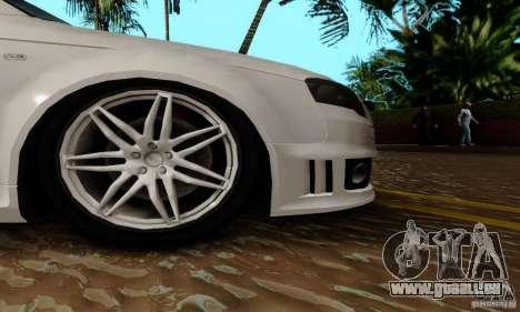 Audi RS4 2007 pour GTA San Andreas vue de dessus