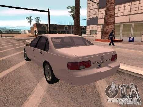 Chevrolet Impala SS 1995 pour GTA San Andreas laissé vue