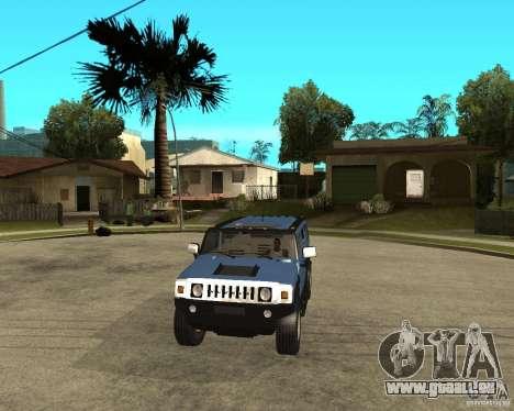 AMG H2 HUMMER für GTA San Andreas Rückansicht