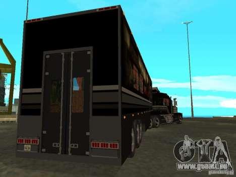 Custom Kenworth w900 - Custom - Trailer pour GTA San Andreas vue de dessus