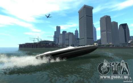 New Jetmax pour GTA 4 Vue arrière de la gauche