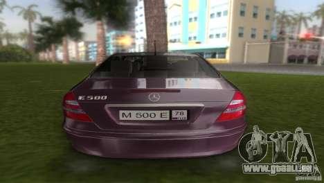 Mercedes E-class E500 pour une vue GTA Vice City de la droite