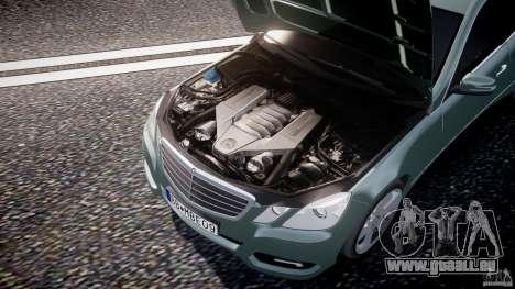 Mercedes-Benz E63 2010 AMG v.1.0 pour GTA 4 est une vue de dessous