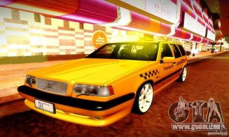 Volvo 850 R Taxi für GTA San Andreas Innenansicht