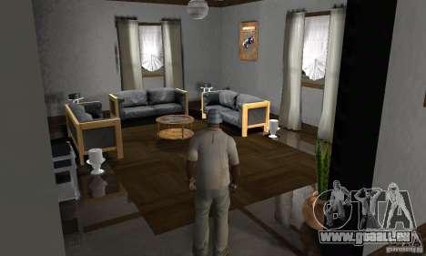 Maisons neuves à coffre intérieurs pour GTA San Andreas huitième écran