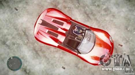 Porsche 918 Spyder Concept pour GTA 4 Vue arrière de la gauche