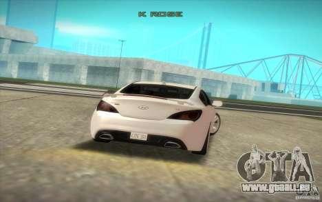 Hyundai Genesis 3.8 Coupe für GTA San Andreas Rückansicht
