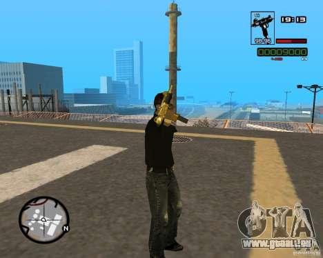 Micro Uzi Gold pour GTA San Andreas quatrième écran